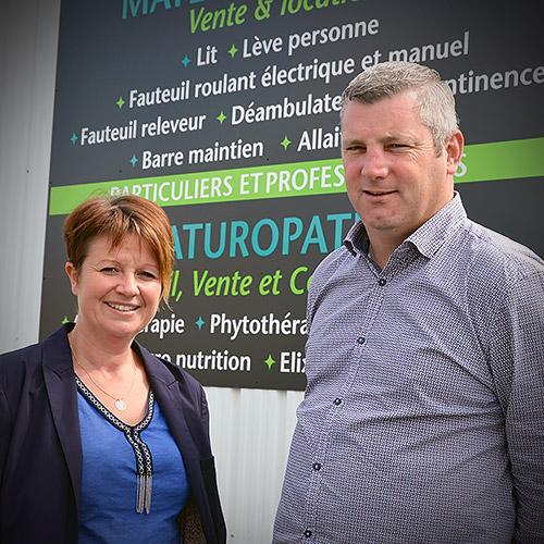 Gaëlle et Arnaud Lévêque, Autonomie Santé, matériel médical